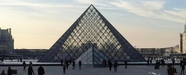 The Glass Pyramid, main entrance to the Louvre