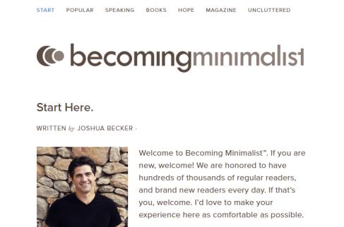 becoming minimalist