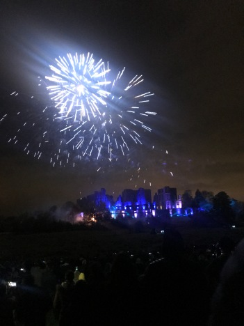Kenilworth Castle with Blue Fireworks